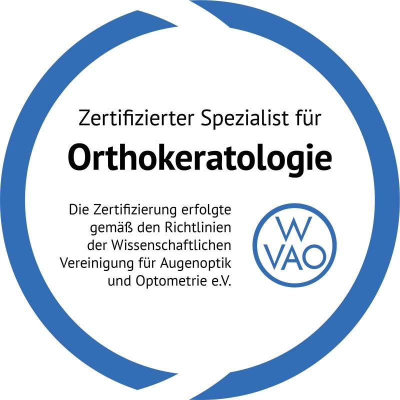 Gütesiegel Orthokeratologie